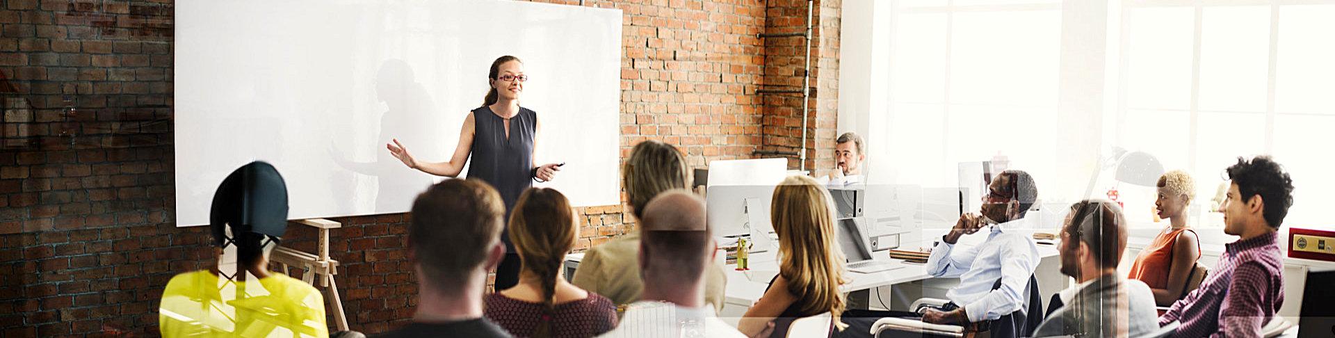 woman having a presentation